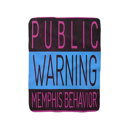 """Pink - Memphis Behavior"" Sherpa Fleece Blanket"