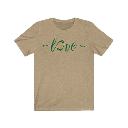 """Love Football - Green & Gold"" Tee"