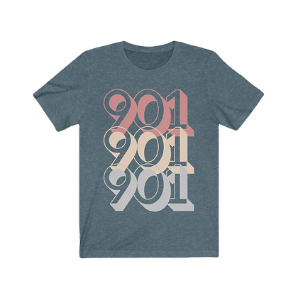 """Tri-901"" Pink/Gray Tee"