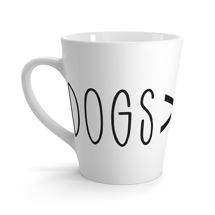 """Dogs > People"" Latte Mug"