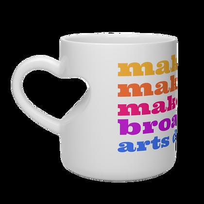 """Broad Ave. Arts District"" Heart Shape Mug"