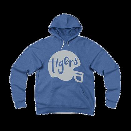 """""""Tigers Helmet"""" Fleece Pullover Hoodie"""