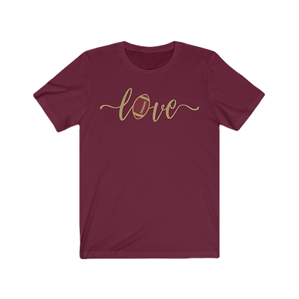 """Love Football - Crimson & Gold"" Tee"