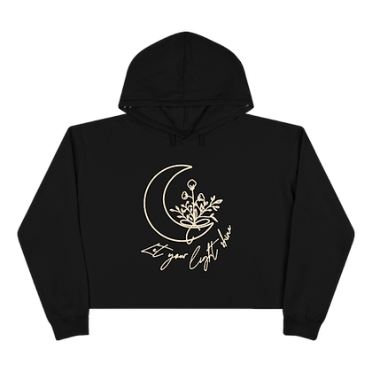"""Let Your Light Shine"" Crop Hoodie"