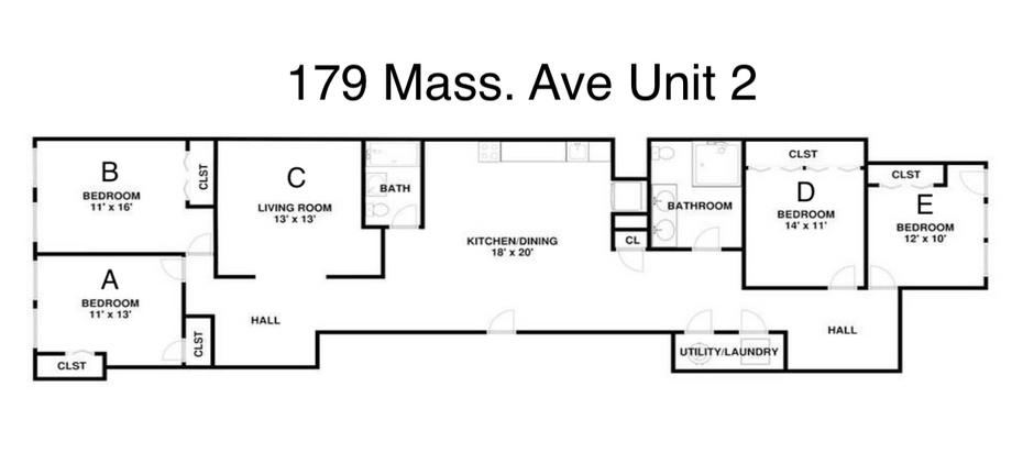 Mass Ave Unit 2 Layout
