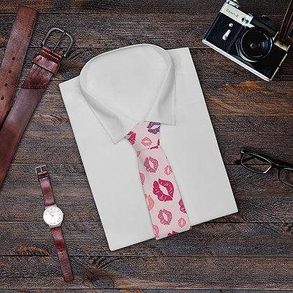 """""""Love Lips"""" Pink Necktie"""