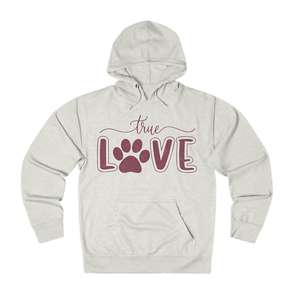 """""""True Love - Paw"""" French Terry Hoodie"""
