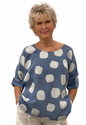 Made in Italy spot design cotton tops