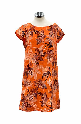 Made in Italy Linen Tunic Flower Print Dress