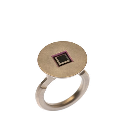 Black Square Spinel Ring