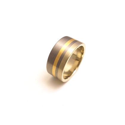 Tantalum Double Stripe Ring.