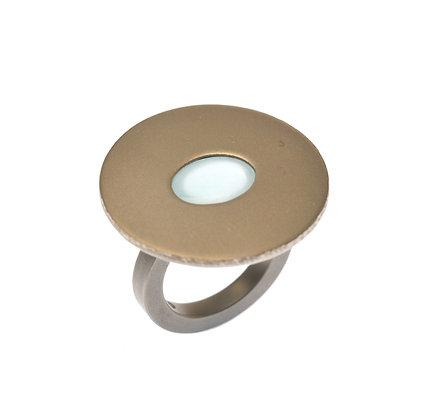 Aquamarine Small Cabochon Ring