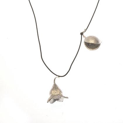 Brachychiton and grevillea pendant