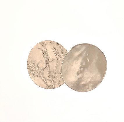 Seaweed and Shell Brooch