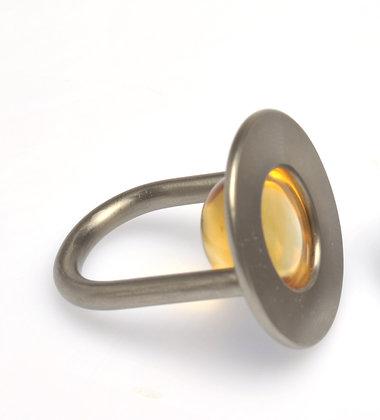 Citrin Cabochon Ring