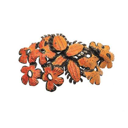 Orange Flower Brooch