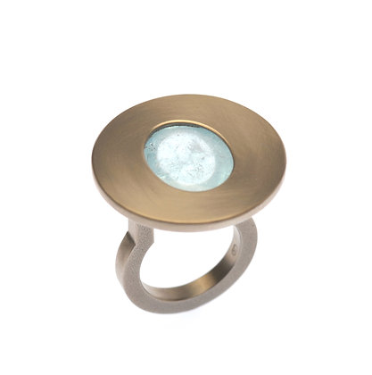 Aquamarine Large Cabochon Ring