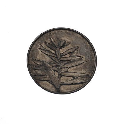 Round Bunya Pine Brooch