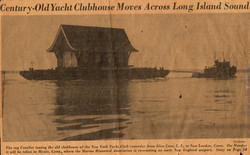 Yacht Clubhouse Barge Move