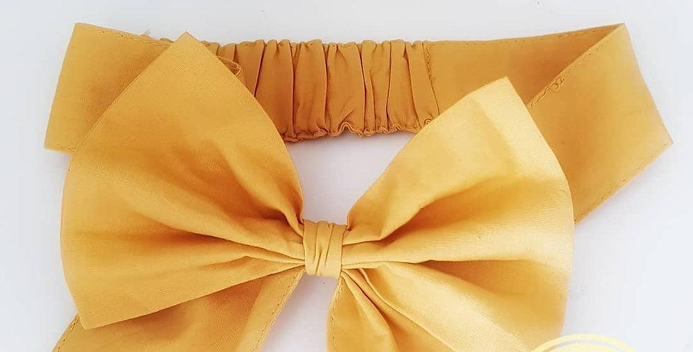 Vintage Mustard Bow Headtie