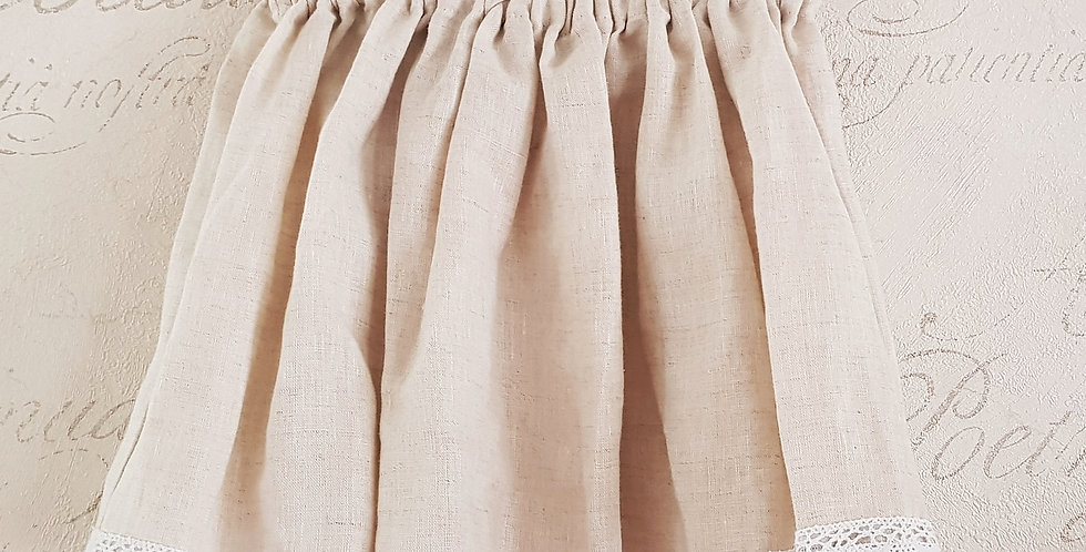 Linen Lace Skirt (in Natural)