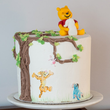 Watercolor Winnie The Pooh Cake