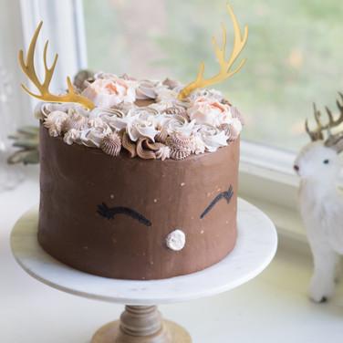 Floral Deer cake