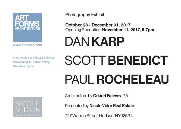 Photogrpahy Exhibit with Dan Karp, Scott Benedict and Paul Rocheleau