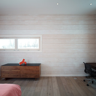 bedroom wall cross laminated timber logs