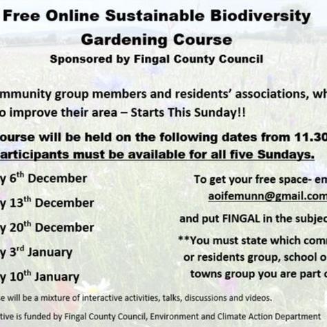 Biodiversity Gardening Course - free places