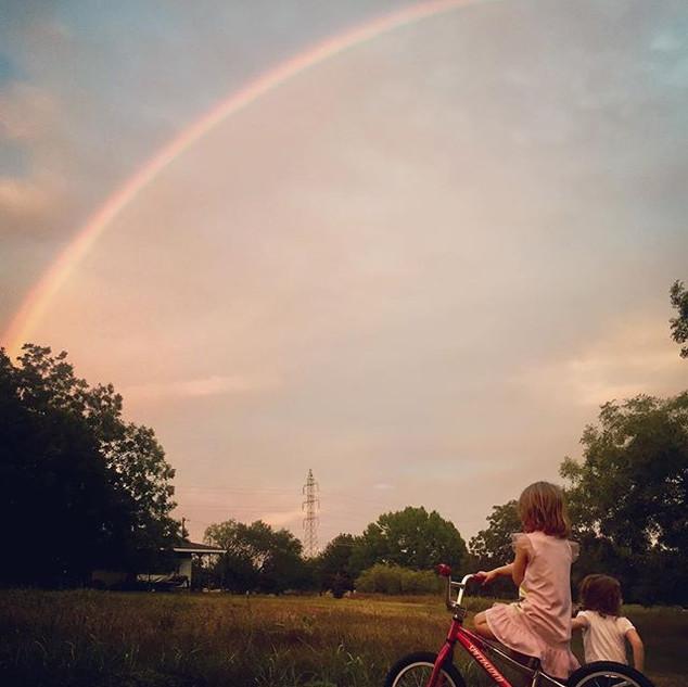 Gorgeous rainbow over Austin this evenin