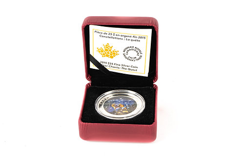 2015 $25 Fine Silver Coin :Star Charts : The Quest
