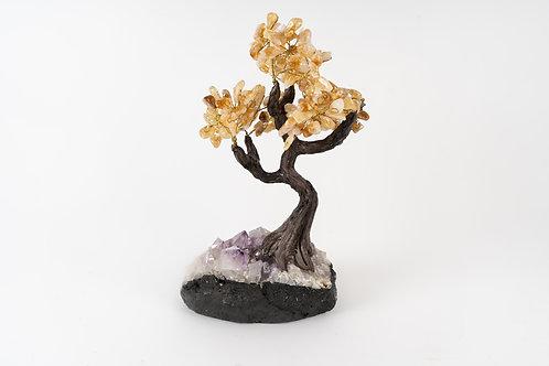 CITRINE TREE OF STONE BONZAI
