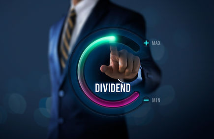 Dividend growth or increase dividend concept. Businessman is pulling up circle progress ba