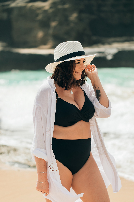 body positive swimsuit model swimco