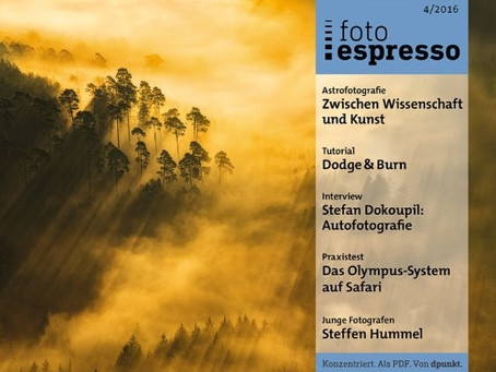 "Article about astrophotography in ""fotoespresso"" - in german"