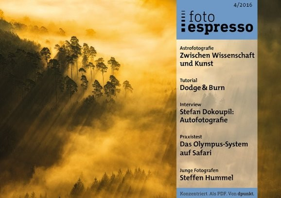 """Article about astrophotography in """"fotoespresso"""" - in german"""