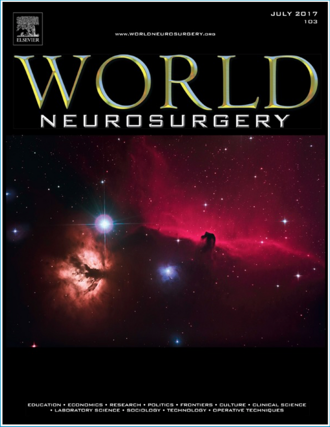 """The Horse-Head is on the cover of """"World Neurosurgery"""""""