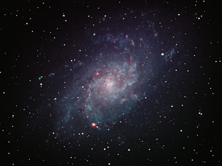 On the stellar content and structure of the spiral galaxy M33 - observed from my balcony