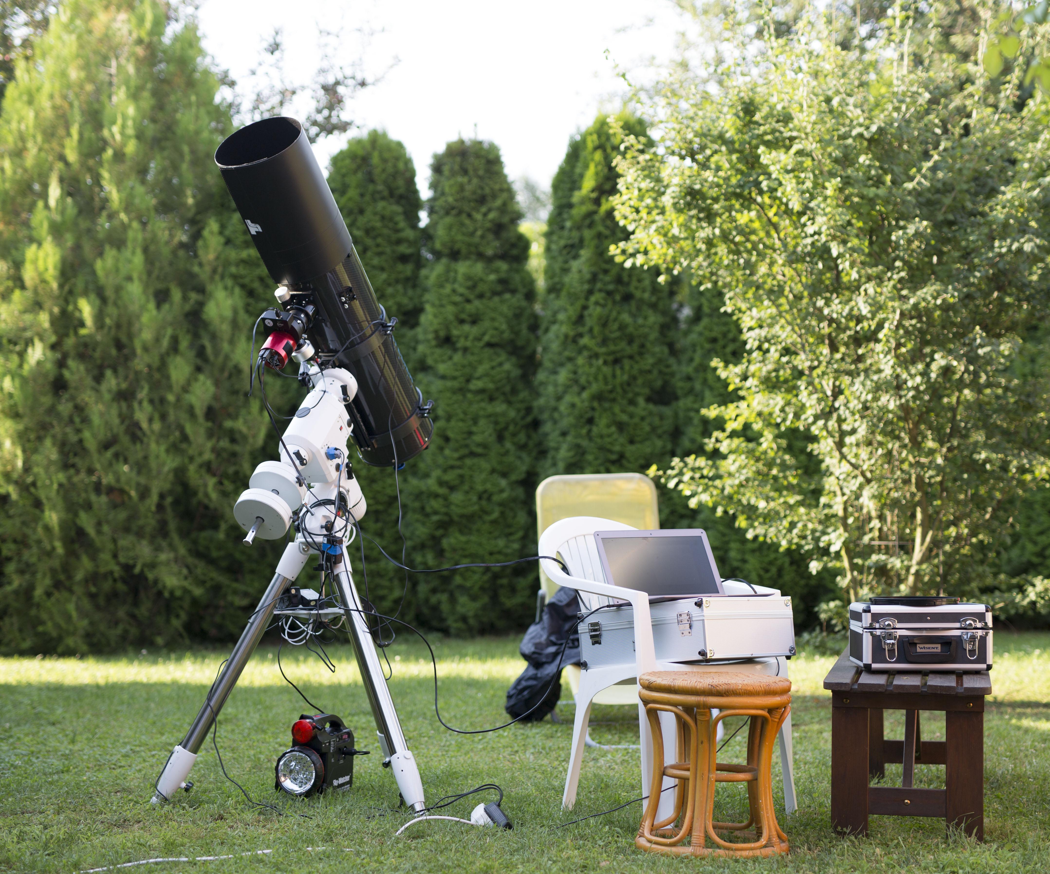 setup in the garden