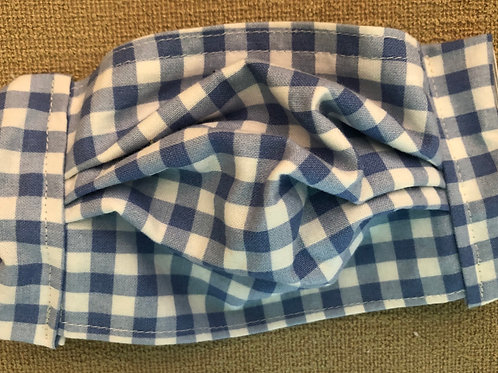 Blue and white check gingham