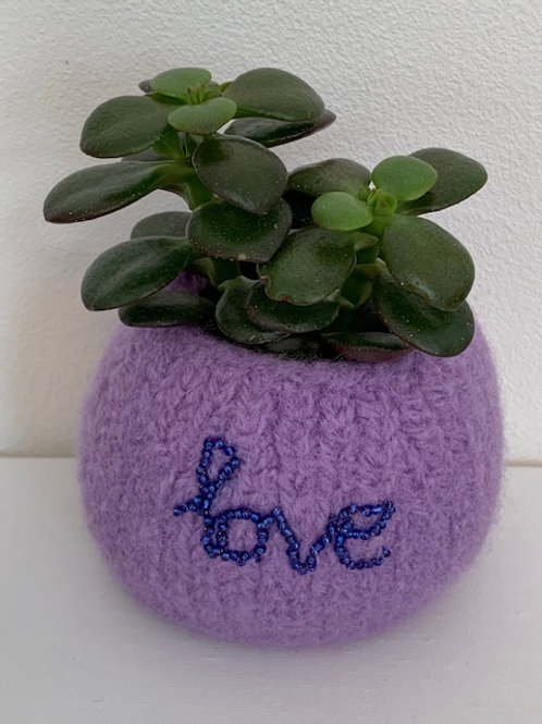 love felted pot