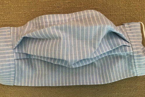 Lightweight pale blue with white stripes