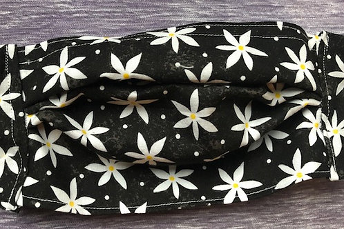 Black with white flowers
