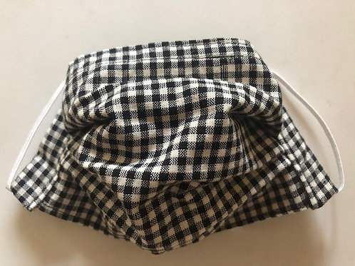 Small black and white check gingham