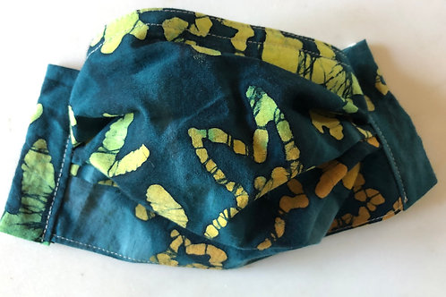Teal batik with lime and lemon