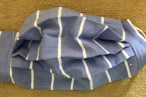 Blue with white stripe on lightweight fabric