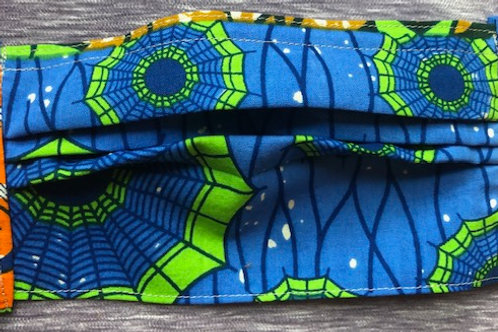 Blue, green, orange abstract pattern