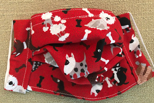 Doggies on red