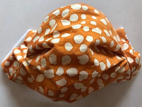 Curry and white dot batik